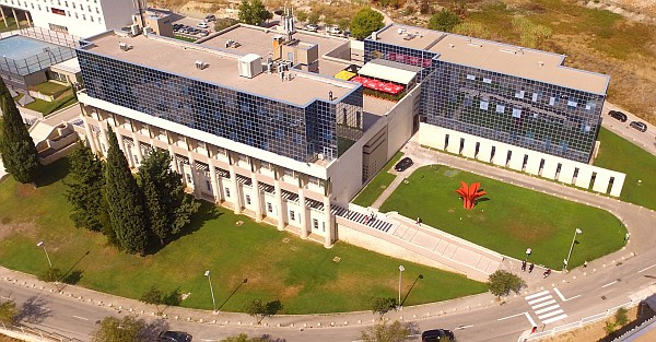 Aerial view of Faculty building